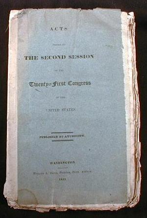 Image for Acts Passed at the Second Session of the Twenty-First Congress of the United States.