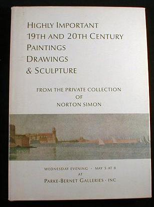 Image for Highly Important 19th and 20th Century Paintings, Drawings and Sculpture form the Private Collection of Norton Simon.