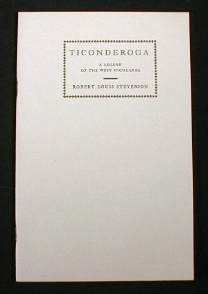 Image for Ticonderoga:  A Legend of the West Highlands