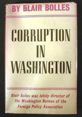 Image for Corruption in Washington, or Men of Good Intentions
