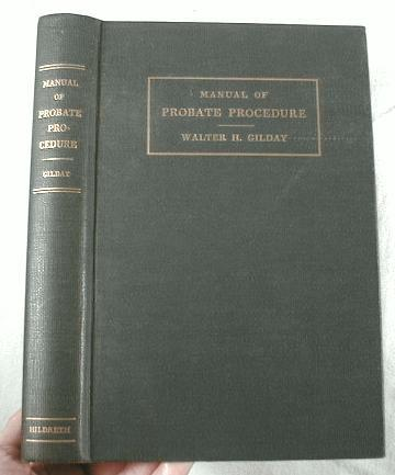 Image for Manual of Probate Procedure