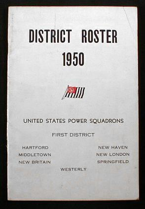 Image for District Roster 1950 - United States Power Squadrons First District