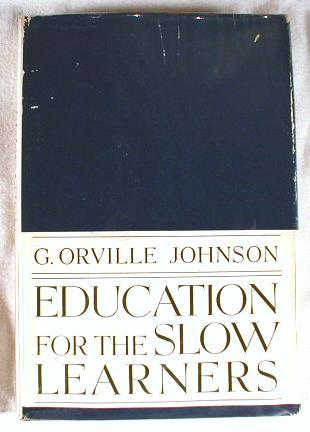 Image for Education for Slow Learners