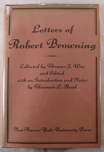 Image for Letters of Robert Browning