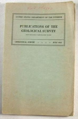 Image for Publications of the Geological Survey - July 1942