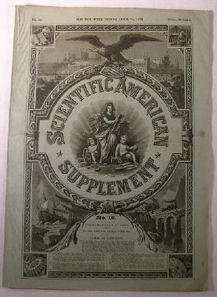 Image for Scientific American Supplement No. 16 - Week of April 15, 1876