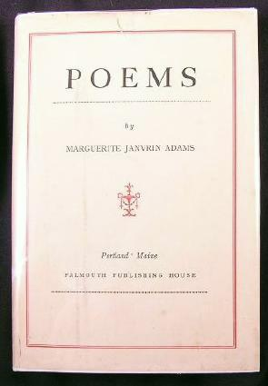 Image for Poems By Marguerite Janvrin Adams