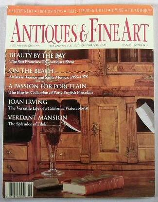 Image for Antiques & Fine Art.  Volume VII, No. 6 - September/October 1990