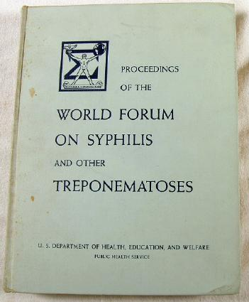 Image for Proceedings of the World Forum on Syphilis and Other Treponematoses