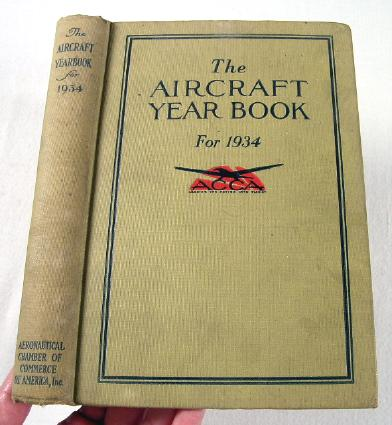 Image for The Aircraft Year Book [Yearbook] for 1934.  Volume Sixteen