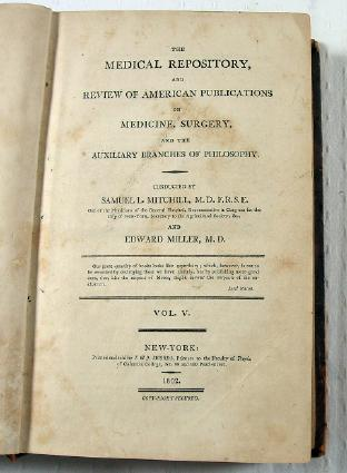 Image for The Medical Repository.  Volume V, No. I, II, III, IV [Complete Year]
