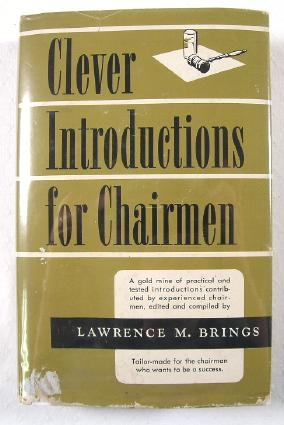 Image for Clever Introductions for Chairmen : A Compilation of Practical Speeches and Stories