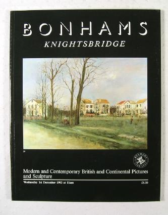 Image for Modern and Contemporary British and Continental Pictures and Sculpture : London : December 1, 1993 : Sale No. 26034