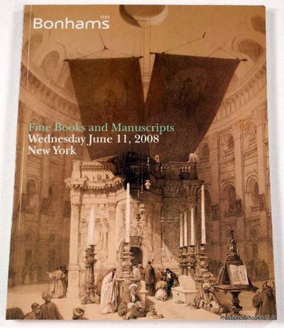 Image for Bonham's: Fine Books and Manuscripts.  New York: June 11, 2008, Sale 16097