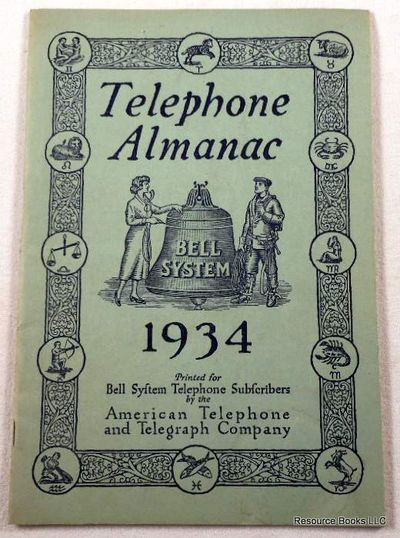 Image for Telephone Almanac 1934