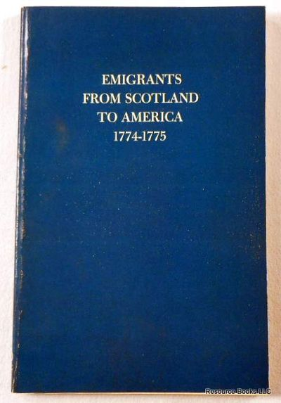 Image for Emigrants from Scotland to America 1774-1775