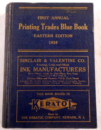 Image for Printing Trades Blue Book. Eastern Edition. First Annual Edition 1924