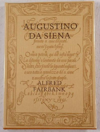 Image for Augustino da Siena. The 1568 Edition of His Writing Book in Facsimile