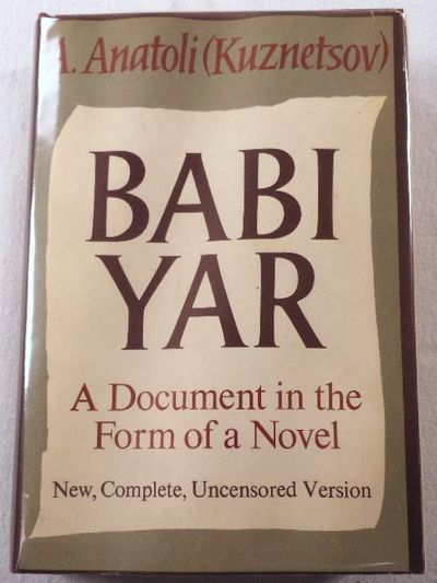 Image for Babi Yar: A Document in the Form of a Novel